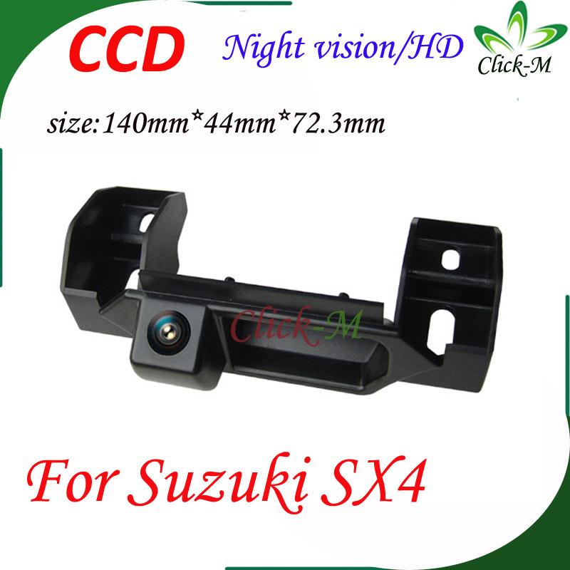 520TVL CCD HD Car parking reverse camera Night vision Pixel 728*582 rear view camera for Suzuki SX4 car camera(China (Mainland))