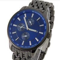 Fashion SINOBI S9268G Round Black Steel Men's Wrist Watch mans causal wristwatches, men dress watches free shipping dropshipping