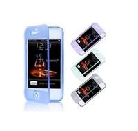 QQQSS-45D: Phone shell silicone TPU Case Fully Cover For iphone 4 iPhone 4S cases For iPhone4S  china post free shipping HHCC-DM