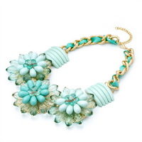 Wholesale Gift Chain Chunky Choker Statement Necklaces Fashion Flower Necklaces & Pendants 2014 Women Mother's Day Gift MC46