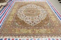 Oriental Carpet Handmade Carpet  Flower Design Persian Silk Rug And Carpet For Living Room Modern Children Bedroom 9x12 On Sale!