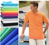 Turn-down collar short-sleeve polo men shirt