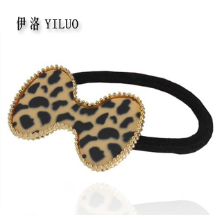 Small accessories horseshoers women's headband leopard print bow all-match acrylic hair rope hair accessory hair accessory(China (Mainland))