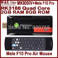 [Free Mele F10 Pro Air Mouse] + MK809 IV Android TV Box Quad Core 2GB RAM 8GB ROM RK3188 Bluetooth WIFI HDMI Mini PC MK809IV