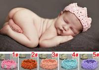 2014 New Design Fashion Knitting wool Imperial Crown Baby Girl Headbands Newborn Hair Band 1-10M Headwear Accessories 745143