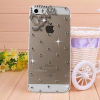 New Arival Simple Love Rhinestone case for iPhone 4 4s case for iPhone 5 5s case Mobile Border Protection Phone bag