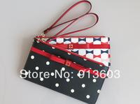 MG859 K Sweet bowknot zipper with screens change purse Drop shipping /Wholesale Free Shipping