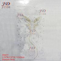 3.74 Inches Hotfix Rhinestone Iron On Transfers  Butterfly Motif  32pcs/lot  T-shirt Panty-hose Decoration