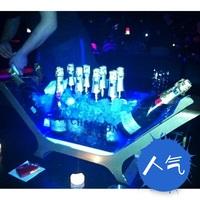 Led Large ice-pail luminous champagne bucket shipform stainless steel ice bucket led red wine ice-pail