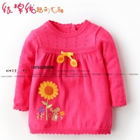 Children's clothing basic shirt all-match female child sweater top baby sweater one-piece dress