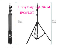 Free Shipping + 2 PCS/LOT 2M 1/4 Universal High Quality Light Stand For Photo Studio Accessory