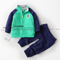 Male child set casual sports sweatshirt all-match baby boy spring and autumn top trousers small clothing