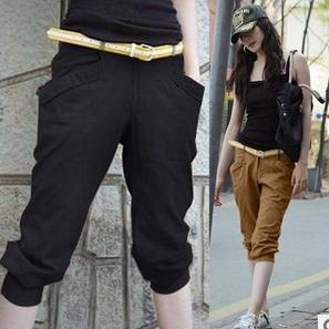 Summer fashion pant 2014 large size women's stretch elastic pants Harem pant ...