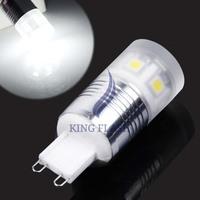 2014 High Quality 3W G9 SMD 5050 11 LED Spot Light Cover Light Bulb Lamp Cold White 200-240V 19728