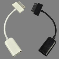 USB Host OTG Cable Adapter for Samsung Galaxy Tab P7500 P7510 P7310 P7300 P1000 black white 200pcs/lot