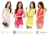 Fashion Woman Mini Dress Spring Autumn Tops Dresses Women's OL Style Sleeveless Mini Dress Size S-XXL