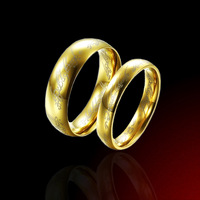 The Lord of the Rings 18K gold plated ring The Lord of the Rings 316L Stainless Steel men women jewelry Free shipping wholesale