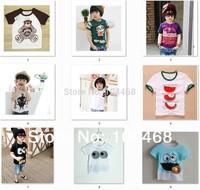 New Promotions ! Children Kids Clothing Tees,Baby Boys cartoon T Shirts For Summer,Children Outwear girl short sleeve T-shirt