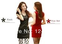 Fashion Women Mini Dress Spring Autumn Women's OL Style Sleeveless Dress Plus Size S-XXL Multi Colors