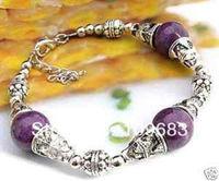 Details about  Handcrafted Jewellery Tibet Silver purple Jade bracelets
