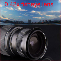 55mm camera 0.42X Super Wide Angle Fisheye Lens with Macro Lens for Sony A55 A57 A65 A290 A330 A580 18-55