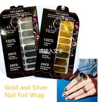Fashion 2sets/lot Gold Silver Nail Art Sticker Foil Wrap Shiny Glitter Nail Patch Art Decal Manicure Pedicure Decorations