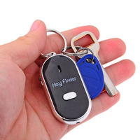 Whistle Sound Control LED Key Finder Locator Anti-Lost Key Chain Localizador de Chave Chaveiro - Black