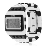 Multi Color Building Block Digital Casual Watches Led Display Toy Brick Wrist Watches for Male Female