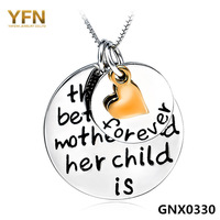 GNX0330 Costume Jewelry Forever Love Pendant Necklace Fashion 925 Sterling silver Box Chain Necklace For Women FREE shipping