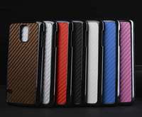 10 x pcs Newest Luxury Carbon Fiber Pattern chrome Hard Leather protective Skin Case Back Cover For Samsung Galaxy S5 i9600