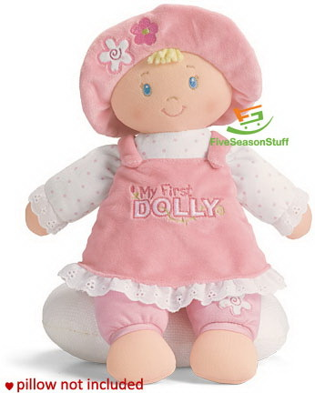 Stuffed Cloth Doll, Pink My First Dolly ,Sleeping Companion for 0-3 Years Old Baby Girl(China (Mainland))