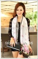 NEN 2014! Silk Floss lady Shawl Long scarf New Women's georgette silk scarf Cotton scarves shawl wrap beach silk scarf