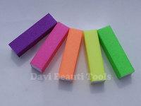 nail tools 10PCS/LOT mix Fluorescent color sanding nail buffer block emery board for nail care Nail Art Free shipping #BK0361-02