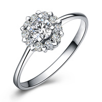 TR22 /  Luxury Ring White Gold Plated With AAA Zircon Free Shipping