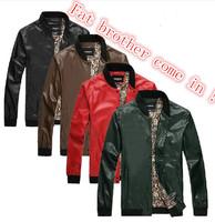 New!!! men's EXTRA LARGE size genuine leather jacket coat MEN big size genuine leather motorcycle jacket coat XXXXL-XXXXXXXL
