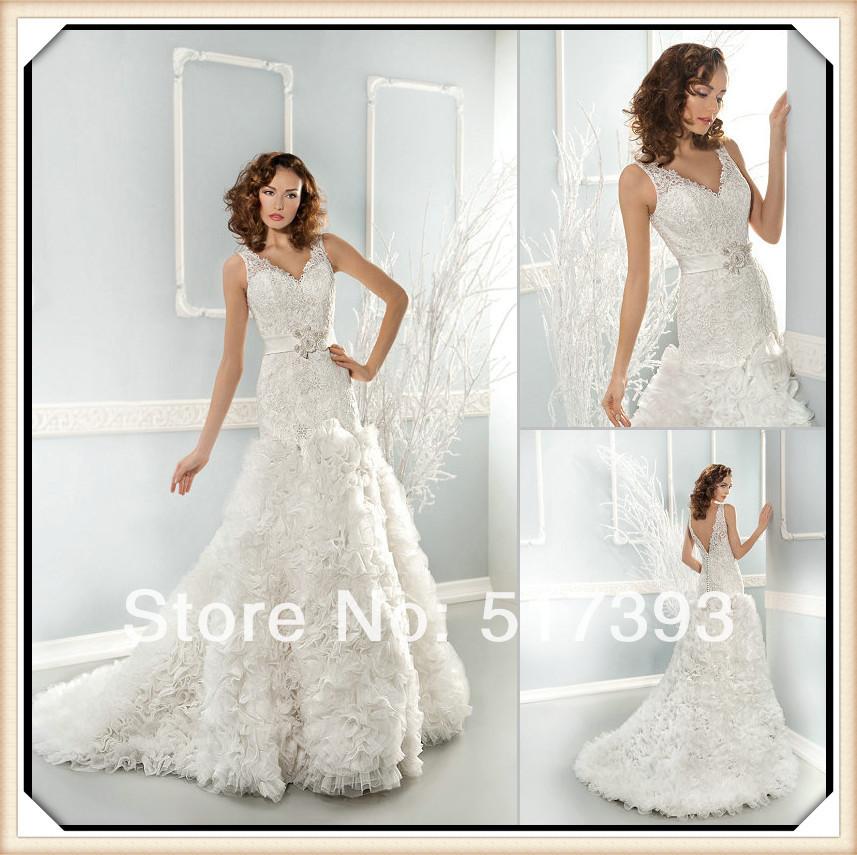 Wedding Dresses  Aliexpress : Wedding dress in cream color item type dresses