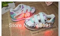 In Stock! Girls Cartoon Sneaker, Children princess shoes kid high quality Light sneaker RETAIL