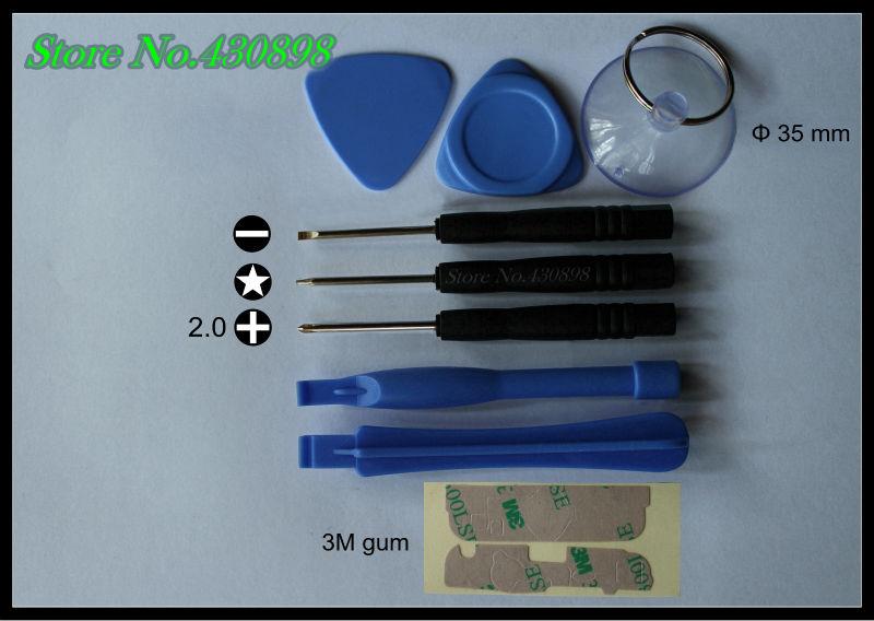 220 set / bag/ 9 pcs repair tools combination set/screwdriver / pry bar / triangle pry / sucker/repair iPhone / Blackberry(China (Mainland))