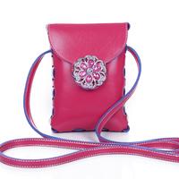 2014 Fashion Mini Women Messenger Bag Coin Purse Rhinestone Mobile Phone Small Bag for Girl,Delicate Candy Kids Bags