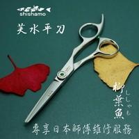 Shishamo professional  flat hair cutting  scissors Hitachi 440C 5.5/5/6inch flat cutting shears  top quality