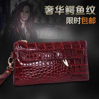 2014 women's fashion handbag  PU small bags clutch day stone stripes vintage bag