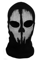 White Skull Call of Duty Ghost Balaclava Hood Full Warm Neck Face Cycling Ski Protector Ski Mask Free shipping retail Wholesale