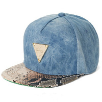 In Stock! 2014 Spring Brand New Fashion Leather+cotton HATER snapback  baseball cap hip hop hat&caps for men women
