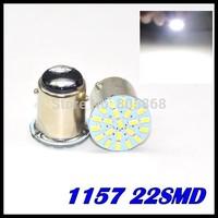 wholesale 10X 1157 P21/4W P21/5W 7528 BAY15D 22 3020 SMD 1206 Car LED Brake Turn Light Automobile Wedge Lamp white