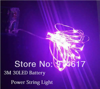 Decoration led Christmas lights  Multicolour 30 LED String Light 3M 4.5V battery powered  Free Shipping