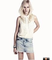 New 2014 Women Brand Blouses Hot Selling large size  Chiffon Blouse Tops Autumn-Summer  Sale Shirt