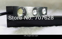 Aluminum Alloy Daytime Running Light 3SMD High Bright Fog Lamp Installation With Screws Waterproof Eagle Eye Reverse Light White