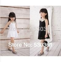 New 2015 summer sequins collar lace girls' dresses, hollow out sun dresses, princess dress, children's clothes