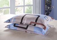 Bedding pillowcase cotton stripe 100% slanting standard measurement 48 74cm general single pillow case