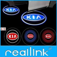 For KIA LOGO Car LED Emblem Cars Welcome Spotlights For Forte CEED Soul Force Sorento Borrego